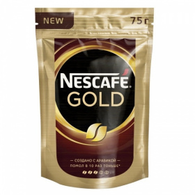 Кофе растворимый NESCAFE GOLD, 75 г (м/у) фото 1851